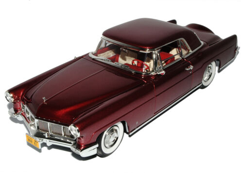 Lincoln Continental 1956 Coupe Burgund Rot Signature 1//18 Yatming Modell Auto mi