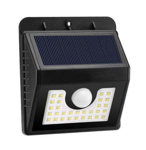 2X DEL RV Capteur de mouvement solaire extérieur porche utilitaire Luminaire DEL 30 Noir