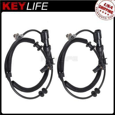Pair Set of 2 Front ABS Speed Sensor Fits Ford F-150 /& 06-08 Lincoln Mark Lt