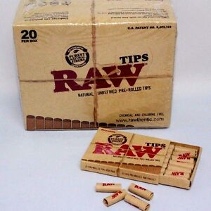 Raw-Tip-Natural-Unrefined-Pre-Rolled-Tips-Full-Box-21-Per-Box-20-Packs-420-Total