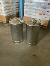 2 Alloy Products 35 Liter Stainless Steel Pressure Tanks 115 Psi 316 Ss