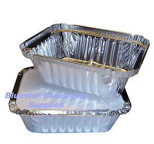 100-x-No2-Takeaway-Aluminium-Foil-Food-Containers-Lids