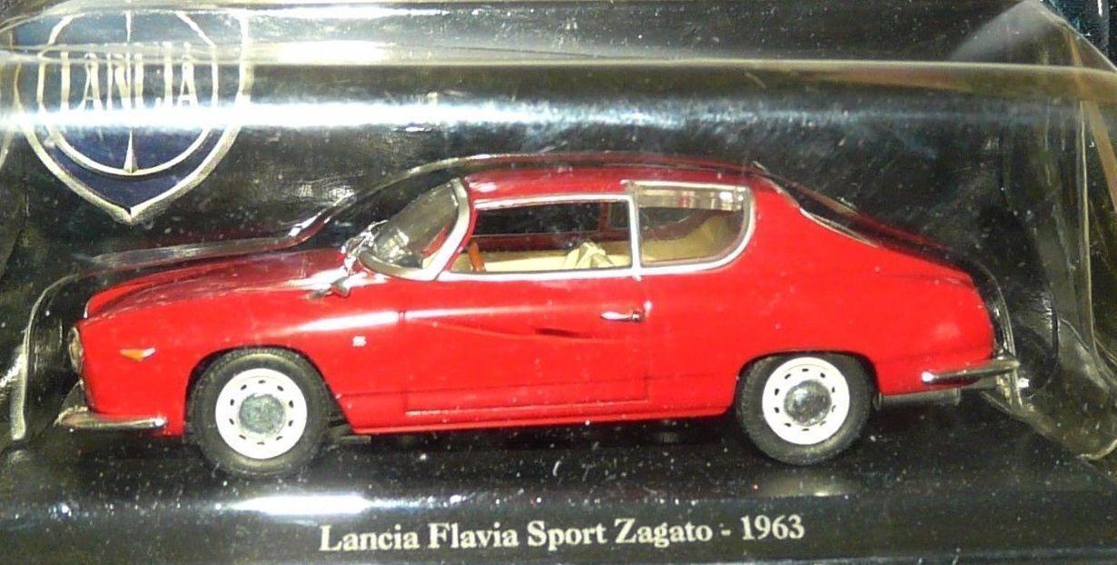 163 Lancia Flavia Sport Zagato 1963 rot - NOREV 1 43