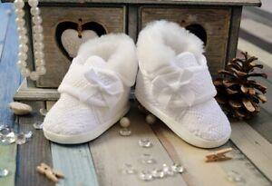 Details Zu Taufschuhe Babyschuhe Ballerina In Der Farbe Rosaweiss Ecru Taufe Schuhe