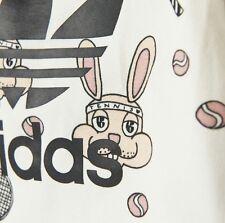 Adidas x Mini Rodini Baby Girl Bunny Rabbit Cream White Tennis Skirt Set 18-24M