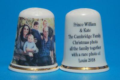 Prince Charles 70th Birthday Photo With The Family 2018 China Thimble B//96