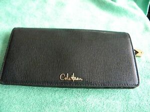 BEAUTIFUL-Black-Pebbled-Leather-Grain-Womens-Cole-Haan-Wallet-MSRP-189