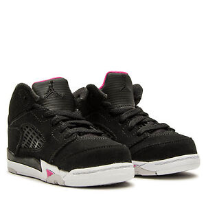 84598be66eeb air Jordan 5 Retro TD BLACK DEADLY PINK TODDLER US SIZES 725172-029 ...