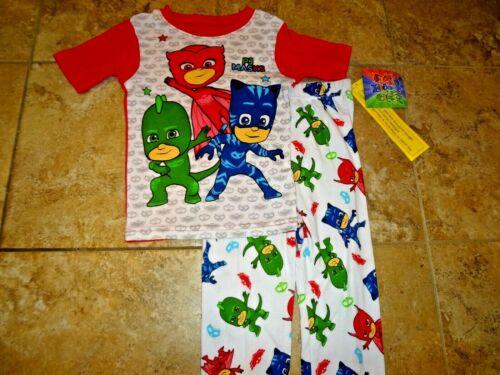NWT PJ Masks Kid/'s Pajamas PJs Pants Shirt Blue Catboy Gekko Owlette Hero 5T