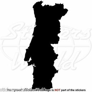 PORTUGAL-Map-Shape-Portuguese-Silhouette-Vinyl-Sticker-Window-Decal-ANY-COLOR