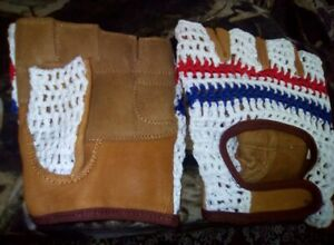 Vintage-Style-Tricolor-Mitts-Crochet-Cycling-Gloves-Mitts-L-039-Eroica