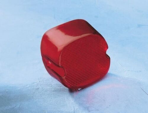 Laydown Taillight Lens with Bottom Tag Window Drag Specialties Red 12-0402D