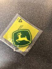 John Deere Logo Decal sticker green and yellow die cut 3.25x3.5 p160