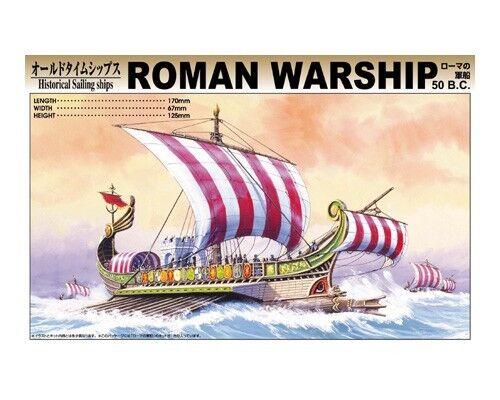 Aoshima 04316 Roman Warship 50 B.C Plastic Kit Historiska segelfkonstyg - T48