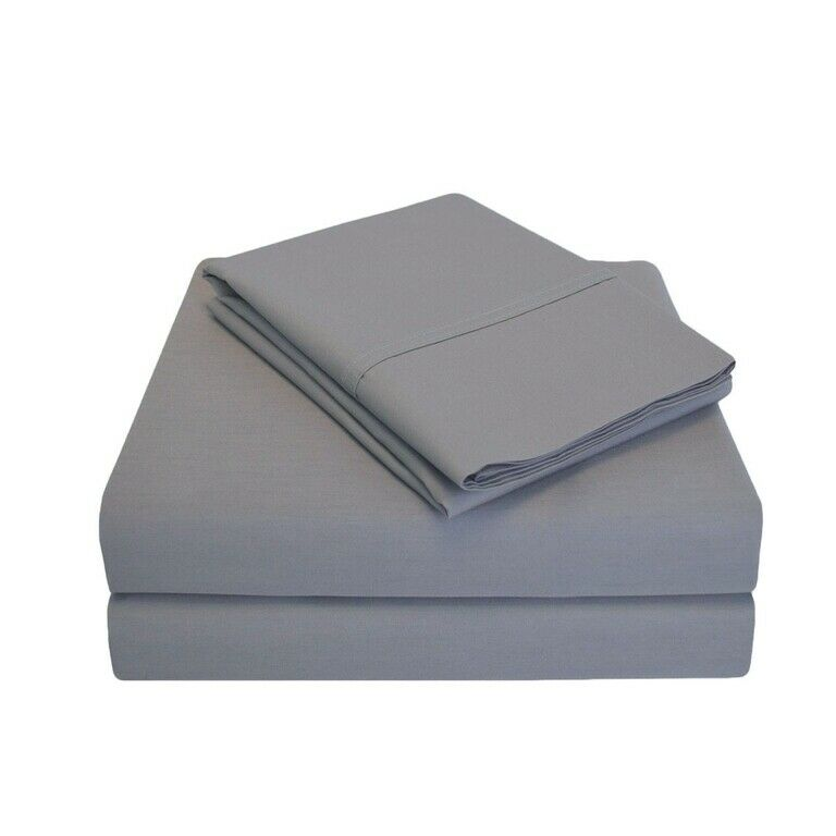 300 Cal.King Sheet Set Percale Solid-grigio