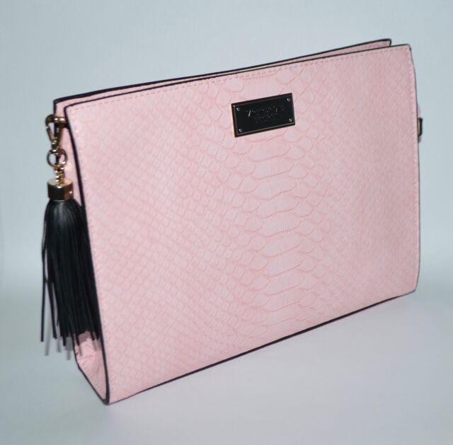 VICTORIA/'S SECRET Deep /& Light Pink Bikini Gold Chain Detail Halter New Large