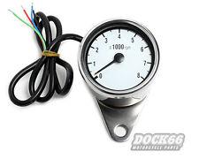 Drehzahlmesser Mini elektronisch weiss, rpm meter electronic