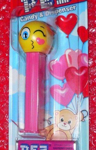 Pez Valentine KISSING EMOJI on  card