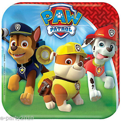 PAW PATROL SMALL PAPER PLATES (8) ~ Birthday Party Supplies Dinner Luncheon Cake