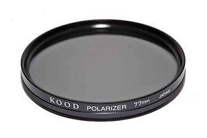 77mm-Alta-Calidad-Kood-Lineal-Filtro-Polarizador-Fabricado-en-Japon
