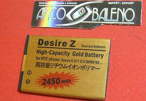 BATTERIA-2450Mah-per-HTC-DESIRE-Z-A7272-BA-S450-7-MOZART-MAGGIORATA-POTENZIATA