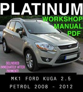 Download Link Ford Kuga Workshop Repair and Service Manual 2008 to 2012