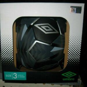 Black//Grey Umbro Comet Size 3 Soccer Ball