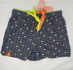 Costume-Sun68-Beachwear-Swim-Pant-Logo-Fluo-H19116-Taglia-M