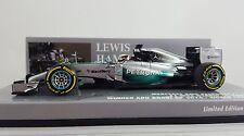 Lewis Hamilton Mercedes AMG Petronas World Champion 2014 Minichamps 1:43 Scale