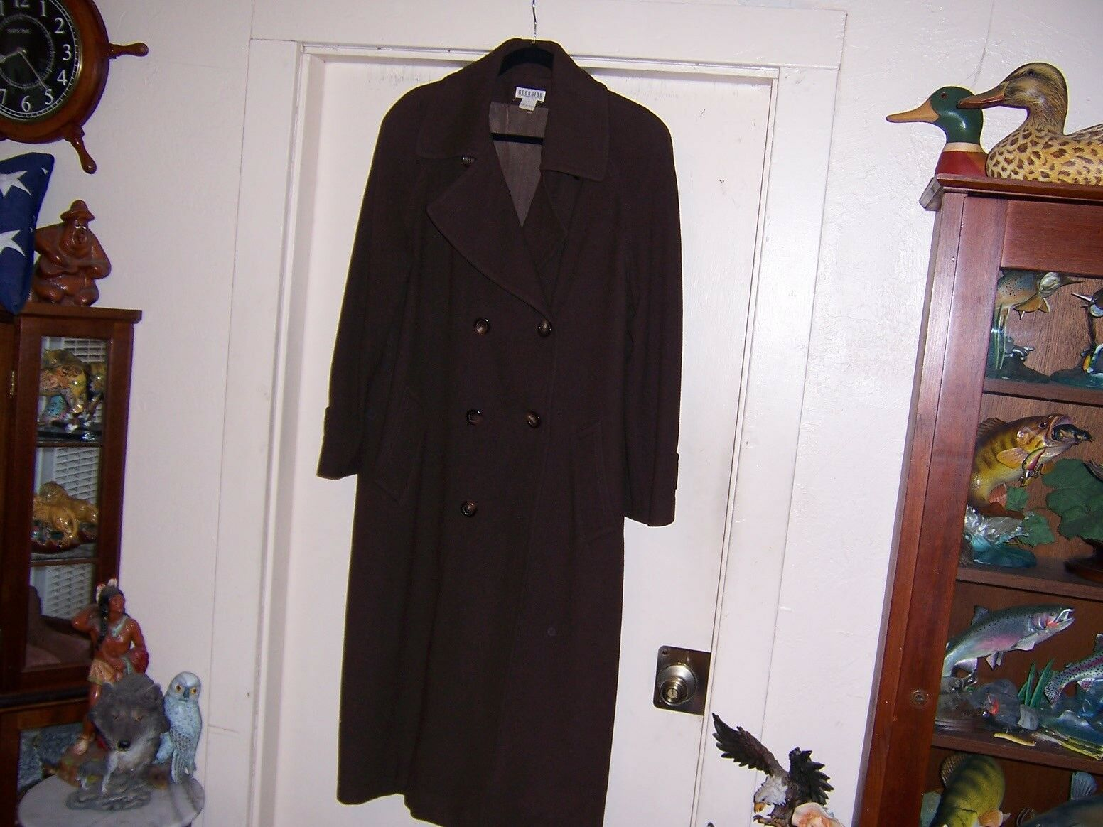 LADIES GEORGIO WOOL OVERCOAT MADE IN CYPRESS SIZE 8 FABRIC MADE IN ITALY