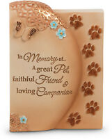 Memorial Plaque Dog Cat In Memory Of A Great Pet Faithful Friend Companion Paw
