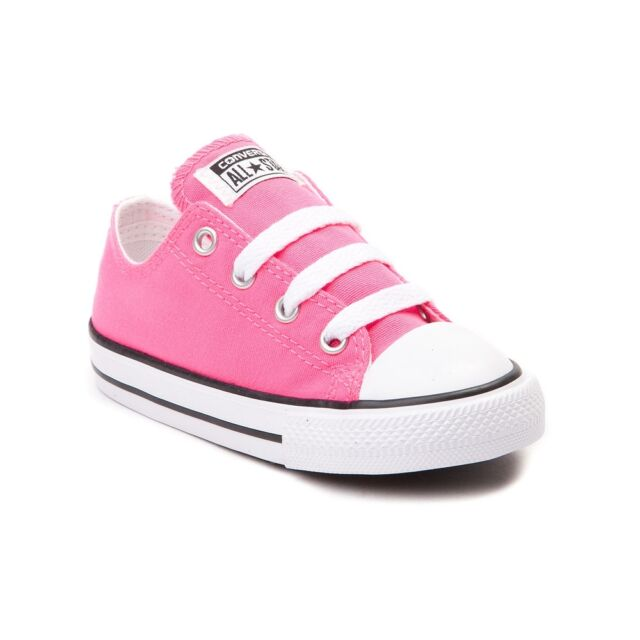aec7992f3be Converse All Star Low Chucks Infant Toddler Pink Canvas Shoe 7J238 Free  Shipping