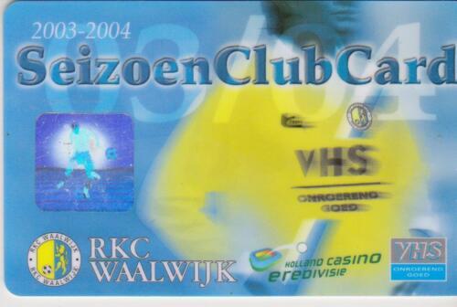 Sammler unused Seizoen Club Card RKC Waalwijk 2003-2004