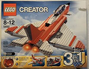 Lego-5892-Creator-3-in-1-Sonic-Boom-Jet-Airplane-amp-Speedboat-New-amp-Sealed