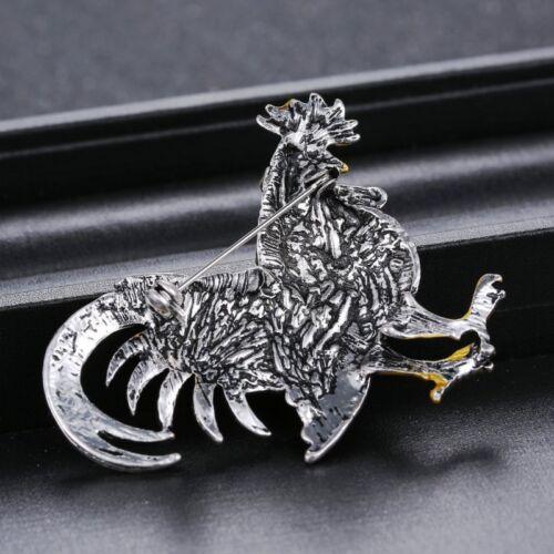 4 styles vente en gros Retro Crystal COCK ROOSTER Animal Broche pins Femmes Bijoux