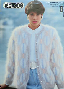 Crucci Ladies Baby Soft Mohair Cardigan Knitting Pattern Leaflet Vol