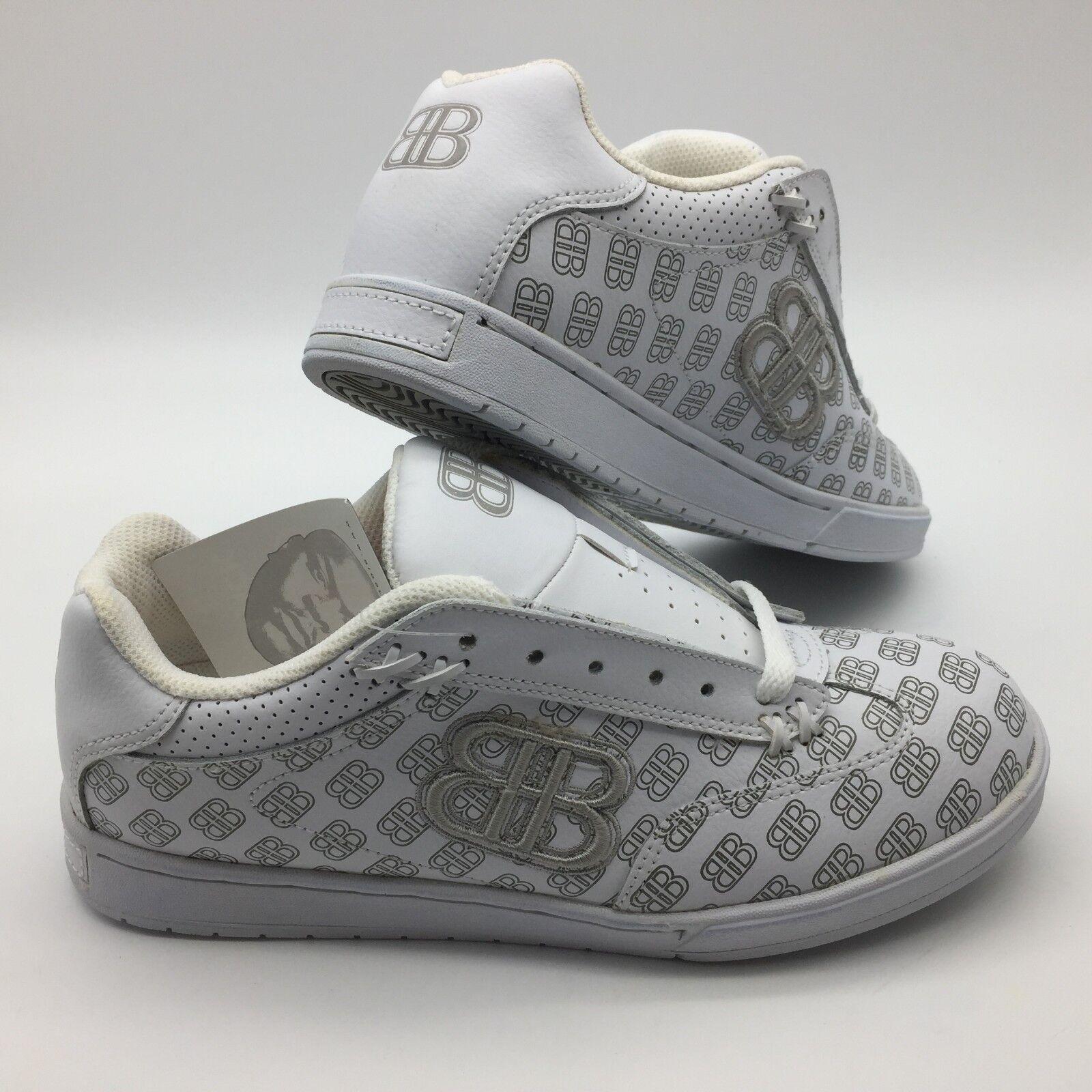 Big Black BB Men's shoes Oss --color- White Sliver