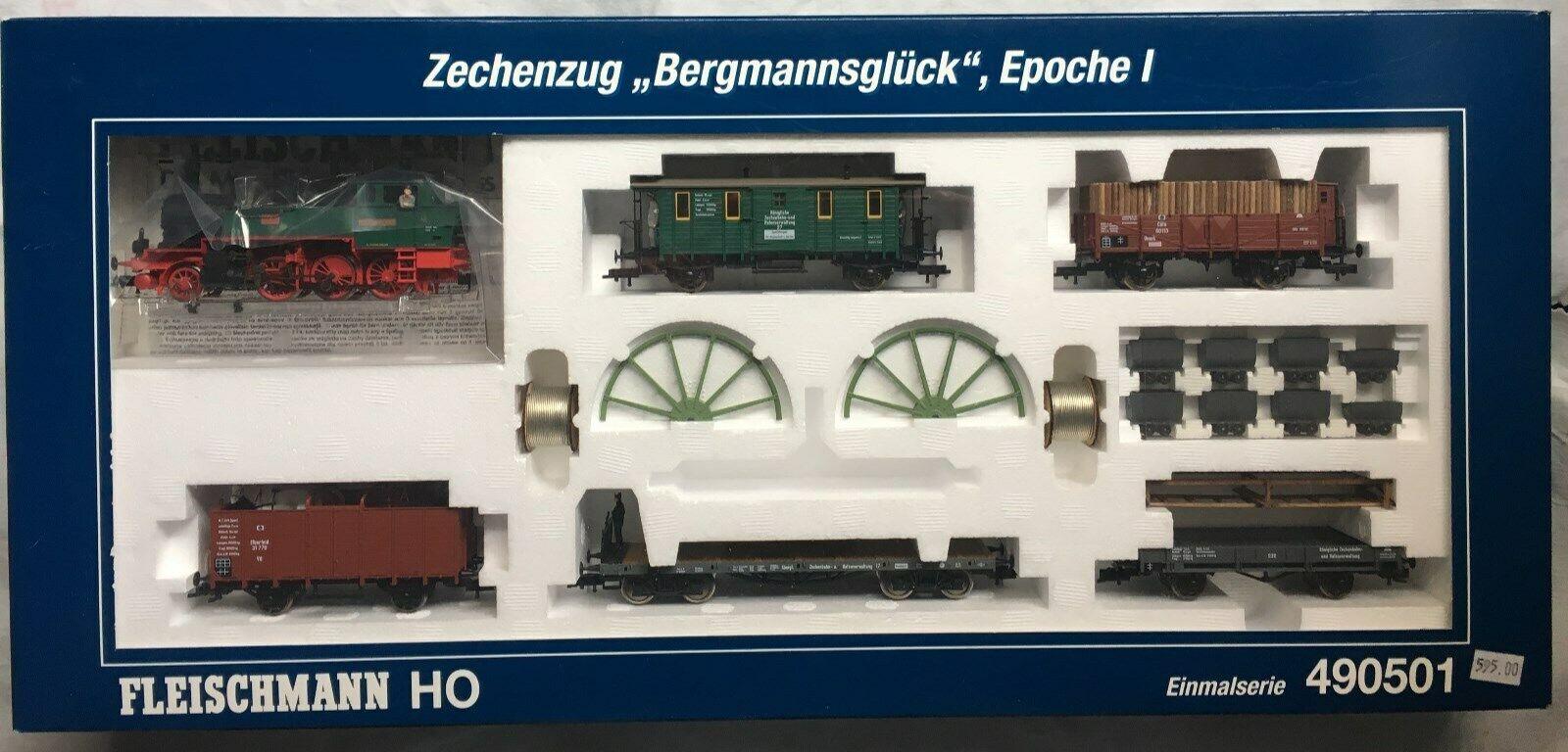 Fleischuomon 490501 Zechenzug Berguomonsglück Epoche I Zugset, neu mit OVP