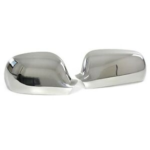 2 chrome rear view mirror cover covers vw golf 4 passat. Black Bedroom Furniture Sets. Home Design Ideas