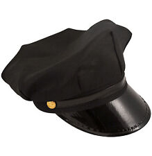 Black Chauffer Hat Quality Prom Adults Fancy Dress Uniform Comedy Driver Smiffys
