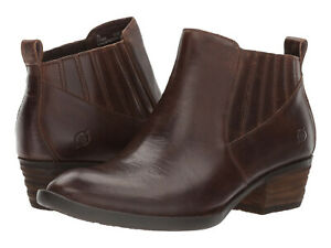 Born-Womens-Beebe-Pull-On-Chelsea-Casual-Riding-Ankle-Boots-Booties-Shoes