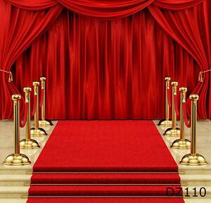 Red carpet Thin Vinyl Photography Backdrop Background Studio Props 10x20ft DZ110