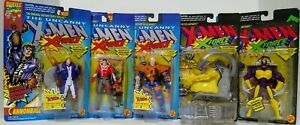 X-Men-X-Force-Action-Figures-Lot-Of-5-Toybiz-Cable-Cannonball-Mojo-NIB