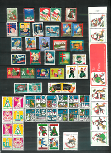 U-S-CHRISTMAS-SEALS-61-All-Diff-MNH-F-VF-1930-1982-All-Scott-Listed-to-1974
