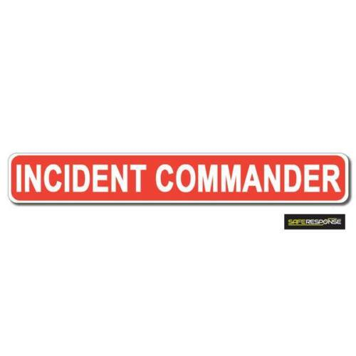 White vehicle Magnet MG196 Magnetic sign INCIDENT COMMANDER Red
