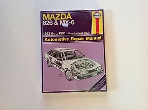 new mazda 626 mx 6 1983 1991 haynes automotive repair manual 1082 rh ebay co uk