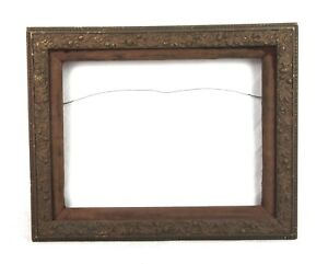 Antique-19th-C-Victorian-Picture-Frame-Gold-Gesso-Ornate-Floral-Fits-14-5-x-10-5