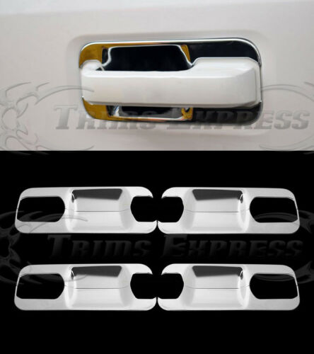 2015-2019 Ford F-150 4Drs Chrome Door Handle Covers Base Back Plates 8Pc
