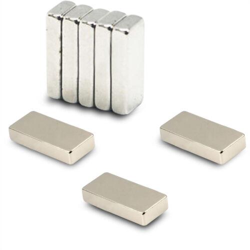 Forte 20pcs 20 mm x 6 mm x 1.5 mm mince 20x6x1.5mm Bloc de Néodyme Aimants