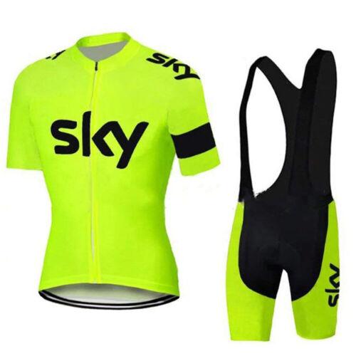 Men Team Cycling Bike Clothing Short Sleeve Jersey Shirt Bib Padded Shorts Kit